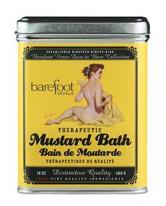 A popular favorite from Barefoot Venus - Mustard Bath Vintage Tins, Vintage Labels, Vintage Candy, Best Roast Chicken Recipe, Mustard Bath, Apple Boxes, Bath Recipes, Good Roasts, Avocado Smoothie