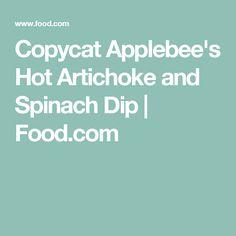 Copycat Applebee's Hot Artichoke and Spinach Dip | Food.com
