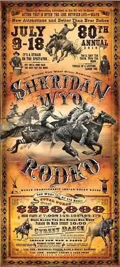 2010 Sheridan, WY Rodeo Poster by Bob Coronato