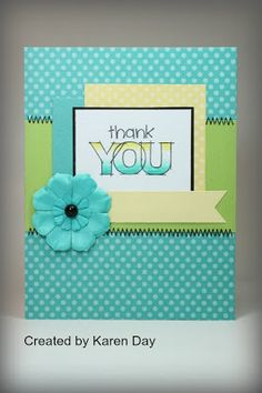 card by Karen Day using CTMH Dotty for You paper