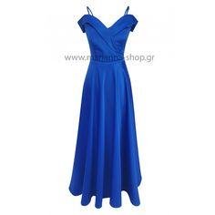 Φόρεμα έξωμο σατέν.Είναι απο βαρυ σατεν ύφασμα, έξωμο με λεπτό ραντάκι το οποίο μπορεί να αντικατασταθεί απο φαρδύ.Ελληνική ραφή. Summer Dresses, Formal Dresses, Shopping, Fashion, Dresses For Formal, Moda, Fashion Styles, Fasion, Gowns