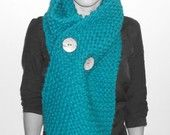 Teal Chunky Scarf by RoweHouse