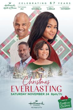 Its a Wonderful Movie - Your Guide to Family and Christmas Movies on TV: Christmas Everlasting, a Hallmark Hall of Fame Movie starring Tatyana Ali, Dondre Whitfield, Dennis Haysbert, and Patti LaBelle Hallmark Channel, Films Hallmark, Xmas Movies, Family Movies, Great Movies, Holiday Movies, Tatyana Ali, Hallmark Holidays, Hallmark Christmas Movies
