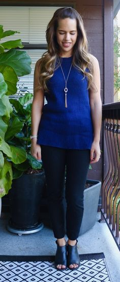 Jules in Flats - J.Crew Sleeveless Tunic Sweater for Summer