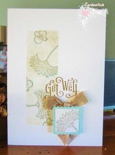 Handmade Get Well card ... Blog - EnchantINK ... Stampin' Up! - Reason to Smile, Stampin' Up! - Perfectly Penned ... CASE - Vanessa Webb