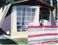 Camping in the tent. Summer 1984