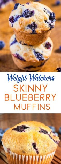 SKINNY BLUEBERRY MUFFINS Get the kids in the kitchen to make perfect blueberry muffins in just a few easy steps! So easy and yum! I used frozen berries (defrosted) and only half a cup of brown sugar and they were super yummy! Weight Watchers Muffins, Weight Watchers Breakfast, Weight Watchers Desserts, Weight Watchers Blueberry Muffins Recipe, Weight Watchers Cupcakes, Frozen Blueberry Recipes, Blueberry Ideas, Weight Watcher Cookies, Ww Recipes
