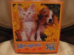 Kitten and Beagle Puppy Jigsaw Puzzle