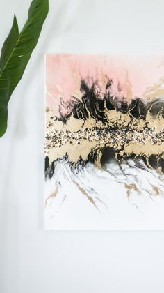 Best resin choice for your resin art pour. Adding metallic golds in resin art. Making & adding crystals in resin art. Resin Wall Art, Diy Resin Art, Diy Wall Art, Resin Crafts, Diy Art, Diys, Acrylic Pouring Art, Diy Painting, Flow Painting