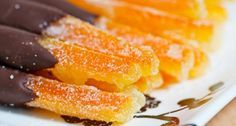 Candied Orange Peel Recipe from Divine Desserts Chocolate Orange, Chocolate Dipped, Homemade Chocolate, Canning Recipes, Candy Recipes, Candied Orange Peel, Cookies Et Biscuits, Sweet Tooth, Cupcake