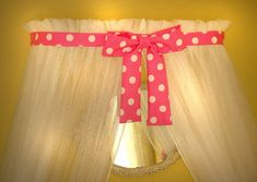 Minnie Mouse Polka dot Princess Bed canopy CrOwN by SoZoeyBoutique