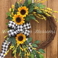 Best seller Sunflower wreath Summer wreaths for front door | Etsy Lavender Wreath, Sunflower Wreaths, Lemon Wreath, Hydrangea Wreath, Floral Wreath, Wreaths For Front Door, Door Wreaths, Grapevine Wreath, Burlap Wreaths