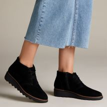Sharon Hop Black Suede - Womens Boots