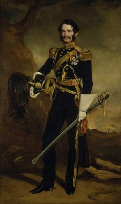 """Portrait of Sir James Hope Grant, by Sir Francis Grant (Scottish 1803-1878).....white leather gauntlets......""""One of the ablest and best generals of the mid victorian age""""......"""