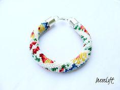 Bead Crochet Bracelet, Seed Bead Bracelet, Beadwork Bracelet, TOHO Beads Handmade IneseLoft