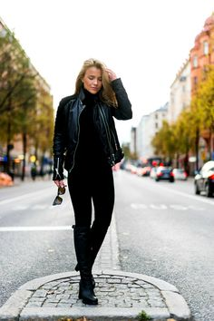 Molly Rustas #black #leatherjacket