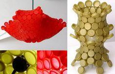 EL MUNDO DEL RECICLAJE: RETRAIN recicla tapones de plástico  ---- original plastic bottle cap lamp