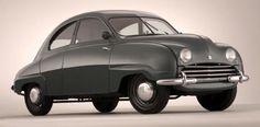 http://chicerman.com  carsthatnevermadeit:  Saab 92 1949. The first production Saab. Ive decided to make today #TransverseTuesday. Transverse engines are pretty ubiquitous throughout the motor industry most manufacturers of front-drive cars (ie most automotive manufacturers) place their engines crossways (Audis above the A3 are an exception) for packaging reasons. But actually transverse engines have only become commonplace across all classes of car in the past 30 years. A few manufacturers…