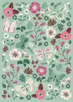 Garden Butterflies Art Print by Anna Deegan Wallpaper Iphone Cute, Cute Wallpapers, Wallpaper Backgrounds, Surface Pattern Design, Pattern Art, Impression Textile, Decoupage Vintage, Butterfly Art, Butterflies