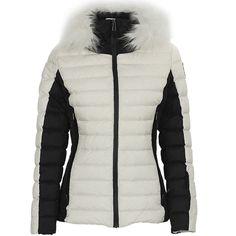 45b4d2eb81b3 Funktionelle und zugleich elegante Ski-Daunenjacke mit  synthetikpelzbesetzter Kapuze. Die Jacke bietet nicht nur