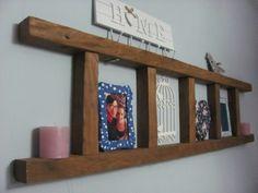 Self-made wooden ladder decor