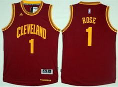 21 Cleveland Cavaliers  1 Derrick Rose Red Road Stitched NBA Men s Jersey c090a8a3f