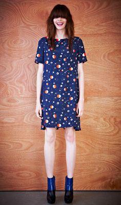 Karen Walker   Stellar Dress Night Galactic CDC  Navy Dresses #2dayslook #lily25789 #NavyDresses  www.2dayslook.com