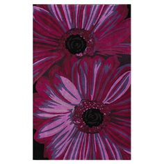 Hand-tufted floral wool rug.  Product: RugConstruction Material: 100% WoolColor: Purple...
