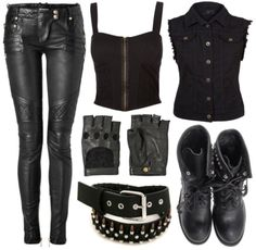accessories, clothes, rock chic, rock style, style