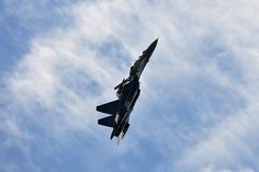 The Su-30 performing the well-known Pugachev's Cobra.