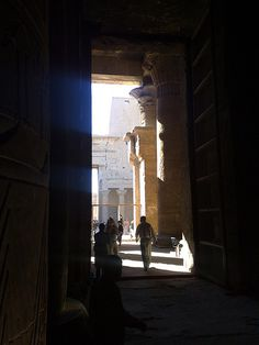 View from inside the Temple of Horus at Edfu in Egypt [shared]