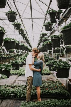Landscaping With Rocks - How You Can Use Rocks Thoroughly Within Your Landscape Style Lovely Greenhouse Photoshoot. Unique Engagement Photos, Engagement Shots, Prenuptial Photoshoot, Greenhouse Pictures, Maya, Summer Family Photos, Greenhouse Wedding, Foto Casual, Photoshoot Inspiration
