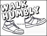 Free printable . Primary 2 , lesson 39 . Jesus washing the