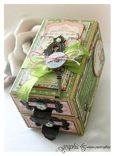 Graphic 45 Presents a Secret Garden Box with Drawers - Graphic 45®