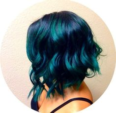 Sei Bella Studio - West Covina, CA, United States. Teal balayage by Annette