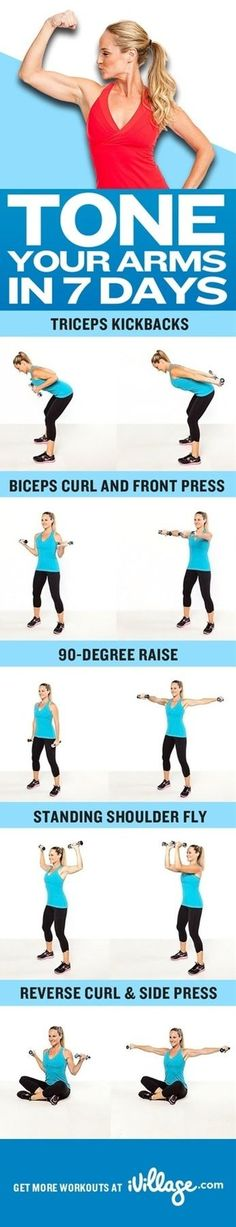 Arm workout - Click image to find more Health & Fitness Pinterest pins