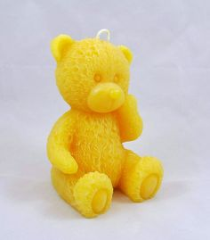 Beeswax Candle Teddy Bear by GardenGateDesign on Etsy, $8.00
