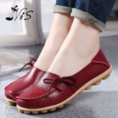 Buy Leather Women Flats Shoes Soft Slip on Casual Ballet Shoes Woman Fashion Loafers Ladies Shoes Plus Size Zapatos Mujer chaussures femme at Wish - Shopping Made Fun Women's Shoes, Me Too Shoes, Shoe Boots, Flat Shoes, Nike Shoes, Dress Shoes, Shoes 2016, Platform Shoes, Cute Shoes Flats