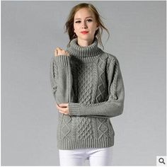 1dcb3c1cb41660 Women Turtleneck Long Sleeve Pullover Cashmere Sweater Ladies Sweaters