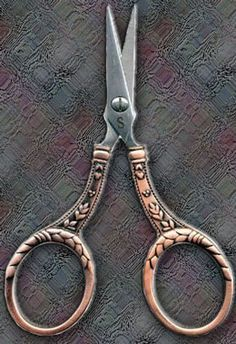 Copper handled scissors