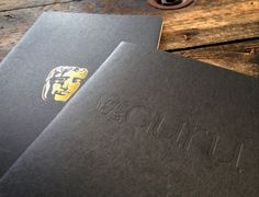 BATFA Moleskine Cahier notebooks  - one style debossed with the Bafta 'guru' logo and the other hot gold foil printed with the world famous mask logo. #brandedmoleskine