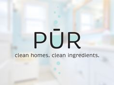 Custom logo design for PUR house cleaning.