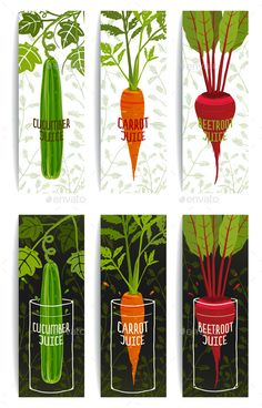 Healthy Vegetables Juices Design Collection - Food Objects