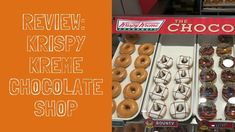 REVIEW: Krispy Kreme's New Chocolate Shop Doughnuts Krispy Kreme, Chocolate Shop, Doughnuts, Food, Chocolate Boutique, Essen, Meals, Yemek, Eten