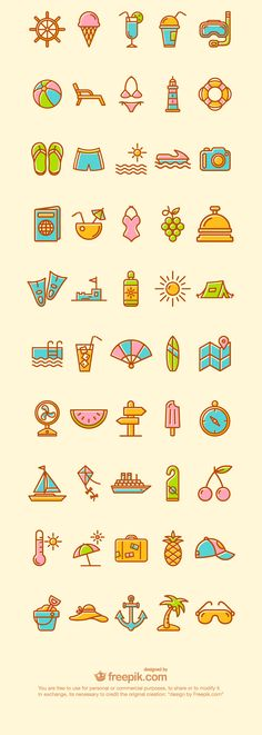 2.summer and vacation icons