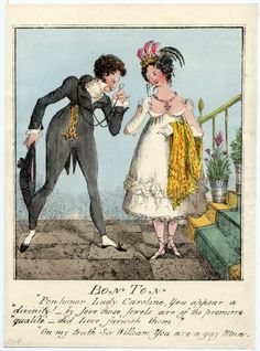 © The Trustees of the British Museum  Bon ton.  Hand-coloured etching, George Cruikshank