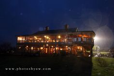 Dream wedding venue in any weather, the barn at Lingrow Farm on a rainy night ©Copyright 2016 Photography by Amanda Wilson