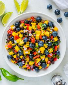 Put This Mango-Blueberry Salsa Over Grilled Chicken or Fish for Clean Eats! - Clean Food Crush