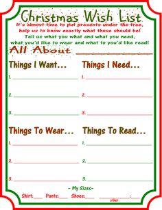 Want, Need, Wear, Read Christmas Wish Lists