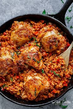 One Pan Tomato Basil Chicken & Rice   http://cafedelites.com